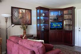 Corner Wall Unit for flat panel TV features matching bookcase and display  cabinet ...