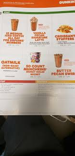 Donuts brew at home view nutrition, allergens, & ingredients. New April Perks And Items Get The App Dunkindonuts