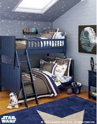 What a fun idea for a shared bedroom! This mix between a space-themed and Star  Wars themed room is great for kids who might like Star Wars, but just want  to ...