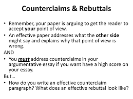 value of an education essay ppt video online  counterclaims rebuttals