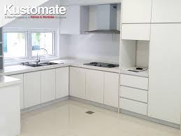 pure white melamine kitchen cabinet design residential house 01