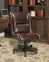brown leather office chair idea