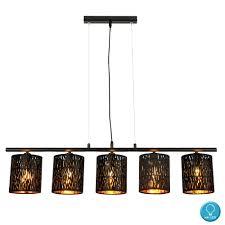 Lampe Schwarz Gold Deckeleuchte Lya Oslash 31 Cm Deckenlampe