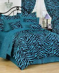 blue zebra bedding set zebra print