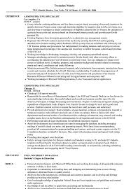 Resume Templates Specialist Administrative Wonderful Objective