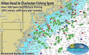 Hilton Head To Charleston South Carolina Gps Fishing Spots