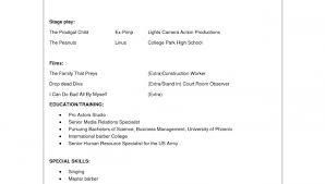 child actor sample resume child actor sample resume are examples     Alib