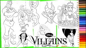 Please include a source link when sharing online. Disney Villain Compilation Maleficent Jafar Ursula Gaston Evil Queen Coloring Pages For Kids Youtube