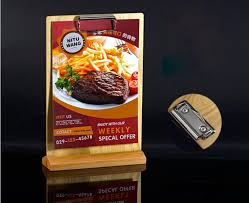 Menu Display Stands Restaurant Mesmerizing 32 Restaurant Retro Wooden Price Tag Display Stand Tabel Sign Menu