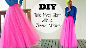 nadira037 diy tulle maxi skirt with a zipper
