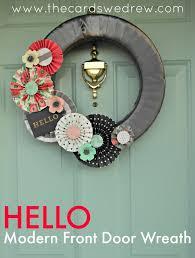 front door wreathHello Modern Front Door Wreath  The Cards We Drew