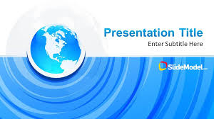 Blue Power Point Templates Blue Circle Professional Powerpoint Template