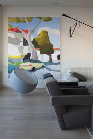 michael muir art, gray bowl chair chair, modern, living with art, love.