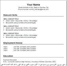 Create A Simple Resumes Create New Resume Free Skinalluremedspa Com
