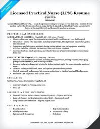 Lpn Resume Sample Professional Free Sample Resume For Licensed