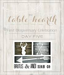 First Blogiversary Week - BRUTUS AND ANDI SIGN CO. GIVEAWAY ...