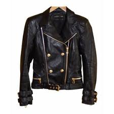 balmain pour h m leather biker jacket black