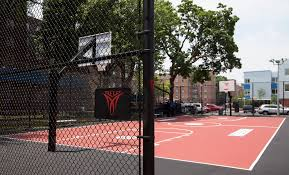 carmelo anthony house basketball court. Perfect Carmelo Carmeloanthonynychaunveilbasketballcourtredhook Throughout Carmelo Anthony House Basketball Court T