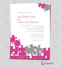 Free Pdf Download Jigsaw Puzzle Wedding Invite Easy To Edit And