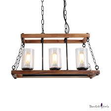 3 lights cylinder island pendant light