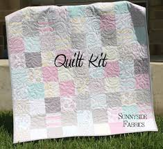 Quilt Kit Willow Baby Girl Patchwork Crib by SunnysideFabrics ... & Quilt Kit Willow Baby Girl Patchwork Crib by SunnysideFabrics, $54.00 Adamdwight.com