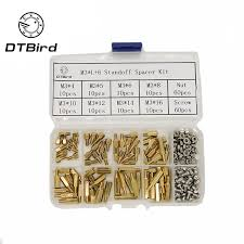200pcs set m2 5 m3 hex nut spacing screw brass threaded pillar pcb motherboard standoff spacer kit wood bolt set