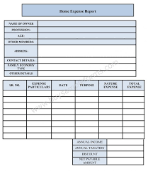 Expense Report Form Template Home Expense Form Sample Forms 286289002401 Expenses Form