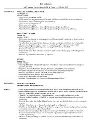 Busser Resume Samples Velvet Jobs