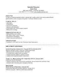 Example Of Medical Assistant Resume New Resume Example For Medical Assistant Clinical Medical Assistant