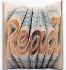 book art fold the pages to create words now to figure out how