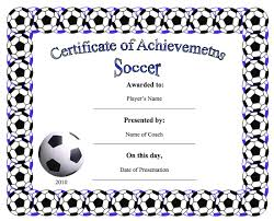 Soccer Certificate Templates For Word Soccer Certificate Template