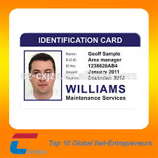 Blank School Id Template Student Id Employee Maker Professional With Qr Plastic Free