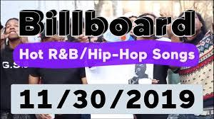 Billboard Top 50 Hot R B Hip Hop Rap Songs November 30 2019