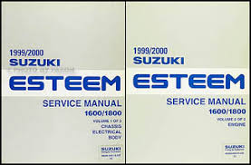 1999 2000 suzuki esteem repair shop manual set original 1600 1800 1999 2000 suzuki esteem repair manual set original