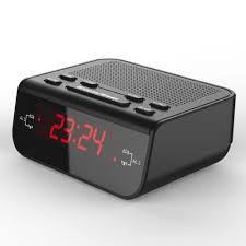 Digital Alarm Clock FM Radio Red LED Time Display