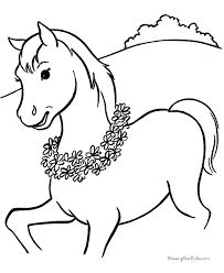 Small Picture Horse coloring page 005