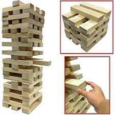 Wooden Brick Game NEW GIANT WOODEN TOWER BLOCKS GAME OUTDOOR GARDEN PARTY FAMILY PUB 3