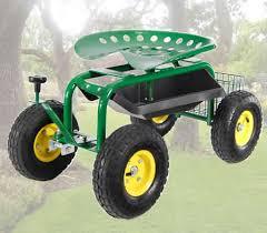 garden seat on wheels. Adjustable Rolling Garden Seat On Wheels With Handle Control U