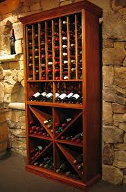 wine cooler brown wooden