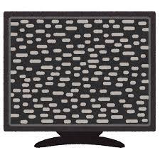 砂嵐が映るテレビのイラスト かわいいフリー素材集 いらすとや