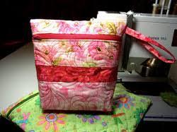 Vera Bradley Quilted Zipper Bag | FaveQuilts.com & Vera Bradley Quilted Zipper Bag Adamdwight.com