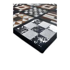 patchwork cowhide rug high quality leather area x cm 8x10 nz