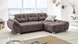 Wohnlandschaft Ruby Ecksofa Sofa In Braun Mit Bettfunktion