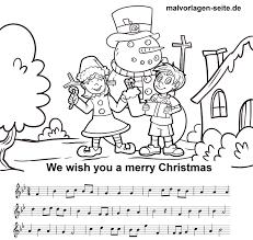 Bladmuziek En Tekst We Wensen U Een Fijne Kerst Toe Om Te Drukken