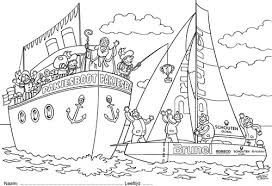 Kleurplaten Sinterklaas Boot