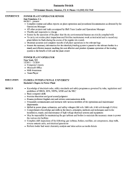 Power Plant Operator Resume Samples Power Resume Format Resume Samples