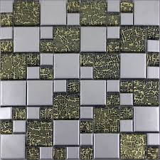 Small Picture Silver Porcelain Square Mosaic Tile Designs Crystal Glass Tiles