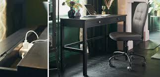 a hemnes black brown computer desk