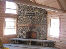 fireplace without mantle and stone fireplaces with river fire f rustic wooden shelf woodbox in untreated log wood wall pa