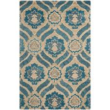 safavieh wyndham blue grey 4 ft x 6 ft area rug